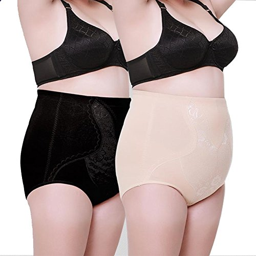 Max Shape High Waist Cincher Weight Loss Slimming Shapewear For Women Plus Size  4Xl  2Pack Black Nude