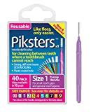Piksters Interdental Brushes (40 Pack, Size 1 (Purple))