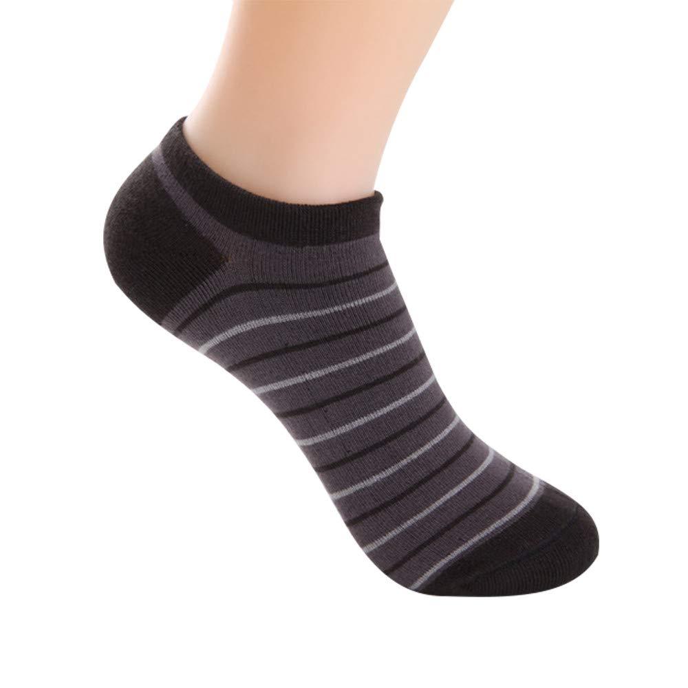BHYDRY 1 pares de calcetines de fibra de bambú de los hombres de malla de la raya calcetines invisibles desodorante de color sólido: Amazon.es: Ropa y ...