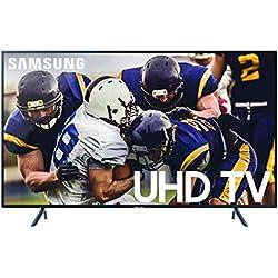 Samsung UN55RU7100FXZA Flat 55-Inch 4K UHD 7 Series Ultra HD Smart TV with HDR and Alexa Compatibility (2019 Model)