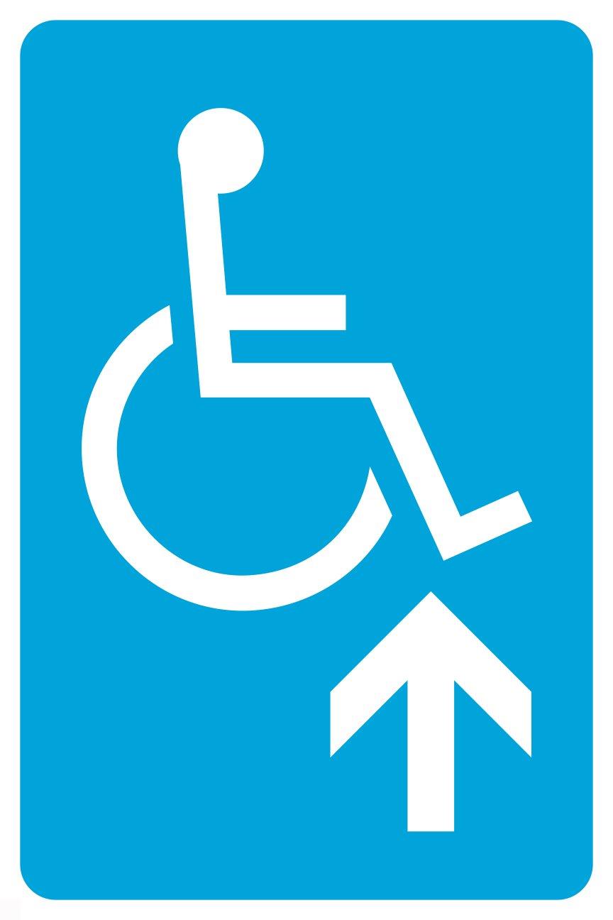 Amazon.com: Azul Handicap Flecha hacia arriba Large 12 x 18 ...