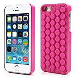 iAnko Cute Decompression Bubble Wrap Shell Puchi Puchi Soft Silicone Phone Case for Apple Iphone 5 5s (pink)