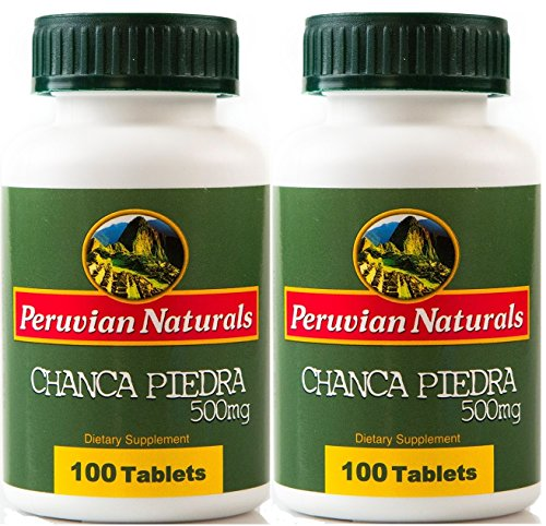 Peruvian Naturals Chanca Piedra 500mg - 200 Tablets (Stonebreaker) | Digestive Supplement for Kidney and Urinary Health
