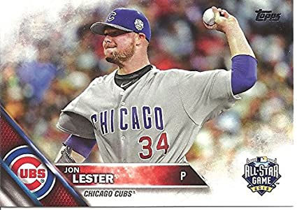 Jon Lester All Star Game Collectible Baseball Card 2016 Topps