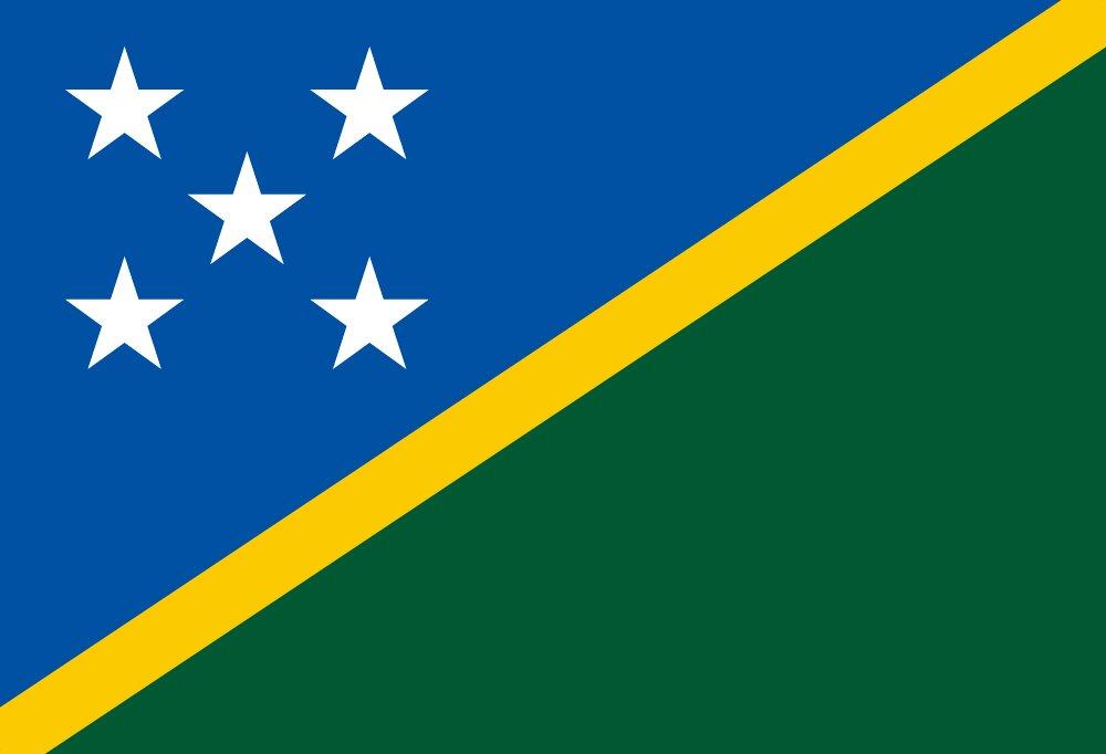 世界の国旗 ソロモン諸島 国旗 [100×150cm 高級テトロン製]   B0091011XU
