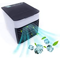 Air Cooler, 2019 New USB Portable Cooling Air Conditioner, 3 in 1 Mini Mobile Personal Space Cool Air Ultra, Humidifier, Purifier and 7 Colors LED Night, Desktop Cooling Fan for Office