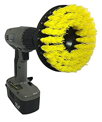 The Beast Brush - Power Scrubbing Brush Drill Attachment for Cleaning Showers, Tubs, Bathrooms, Tile, Grout, Carpet, Tires, Boats