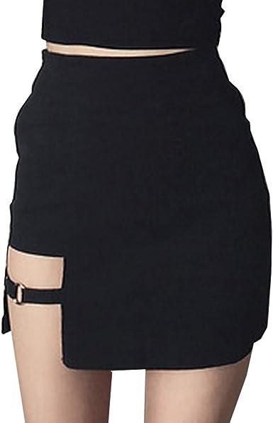 Mujeres Falda Asimétrica - Sexy Slim Fit Minifalda Moda Cintura ...