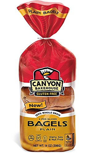 CANYON BAKEHOUSE Gluten-Free Plain Bagels - Case of 6 by Canyon Bakehouse