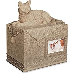 Angel Star Pet Urn for Cat, Dark Brown