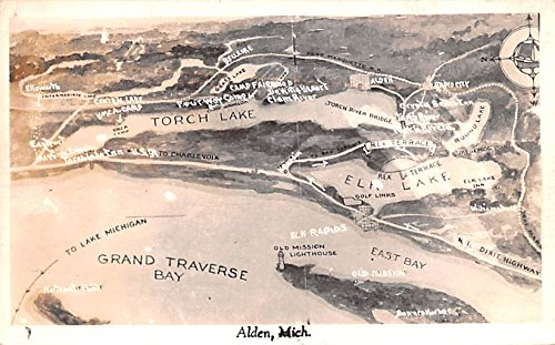 Grand Traverse Bay Alden, Michigan postcard ()