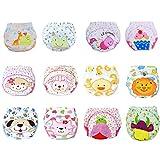 12 Pcs Baby Washable Diaper Potty Boys Girls Toilet Pee Toddler Training Pants Cartton Underwear Size L