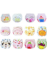 12 Pcs Baby Boys Girls Toddler Toilet Pee Potty Training Pants Cartton Underwear Size M