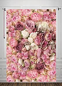 Amazon 5x7ft rose floral wall newborns portraits photography 5x7ft rose floral wall newborns portraits photography backdrop art fabric studio pink flowers wall photo backdrop mightylinksfo Gallery