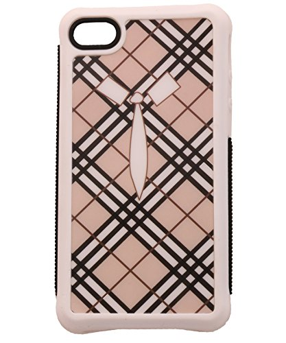 iCandy™ Rubber Printed Matte Soft Back Cover for Apple iPhone 4 / Apple iPhone 4s   TIEWHITE