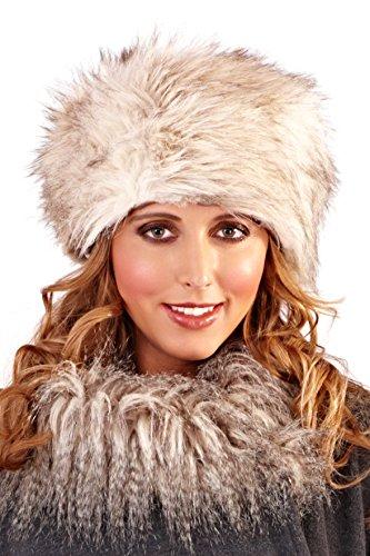 Lora Dora para Mujer Collar DE Pelo Capa Envoltorio Chal para Manta DE Perchero DE Pared DE LUZ Blanca CÁLIDA DE Invierno Traje DE Neopreno para Mujer Talla ÚNICA Grey - Hat