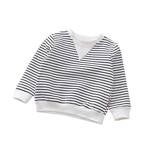 Toddler Infant Striped Sweatshirt, Keepfit Kid Baby Boys Girls Long Sleeve Warm Tops T-Shirt Blouses