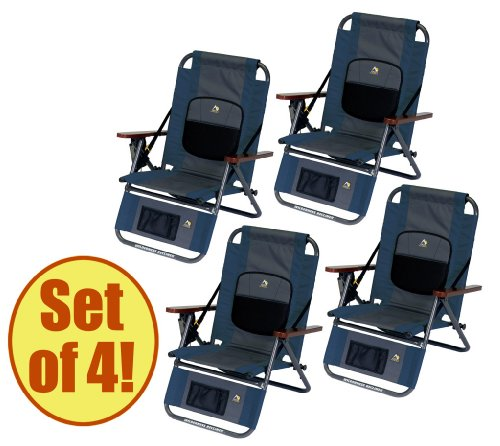 Set of 4 - GCI WILDERNESS Backpack Recliner by GCI Outdoor