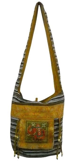 b8c5b0fab49c Image Unavailable. Image not available for. Color  Royal Elephant design multi  colored tribal boho tote handmade Dari Shoulder Bag
