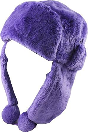 Revive Online Ladies Faux Fur Purple Trapper Hat  Amazon.co.uk  Clothing 7798e2db9e5