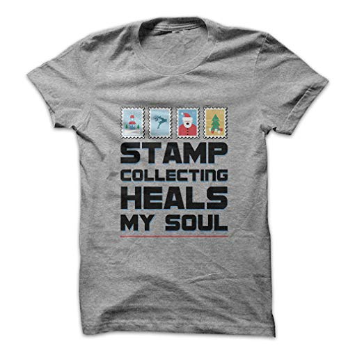 - Stamp Collecting Heals My Soul Premium CVC Unisex XX-Large Grey T Shirt