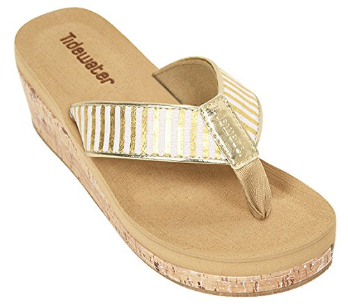 Wedge Women's Gold Gold Sandals Tidewater White Onslow A5UqwI