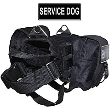 Amazon.com : Petjoy-Wiredog Saddlebag Service Dog Vest