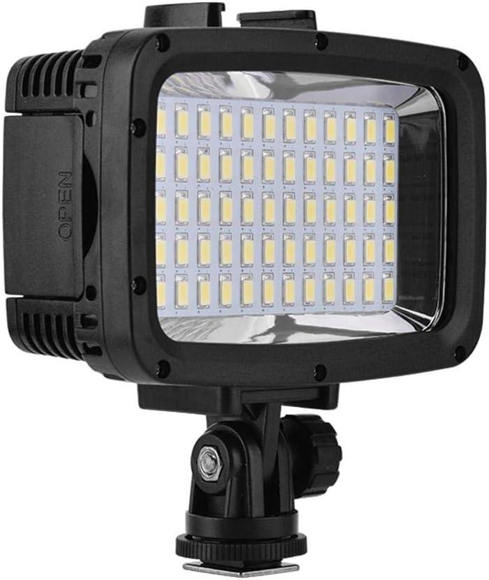 Serounder Waterproof LED Fill Light,Portable 40M Diving Underwater,1800Lum 5500K-6000K 12W 60 Beads LED 16:9,1//4 inch Video Flash Light Fill Lamp,7H Lamp Life for Camera Smartphone