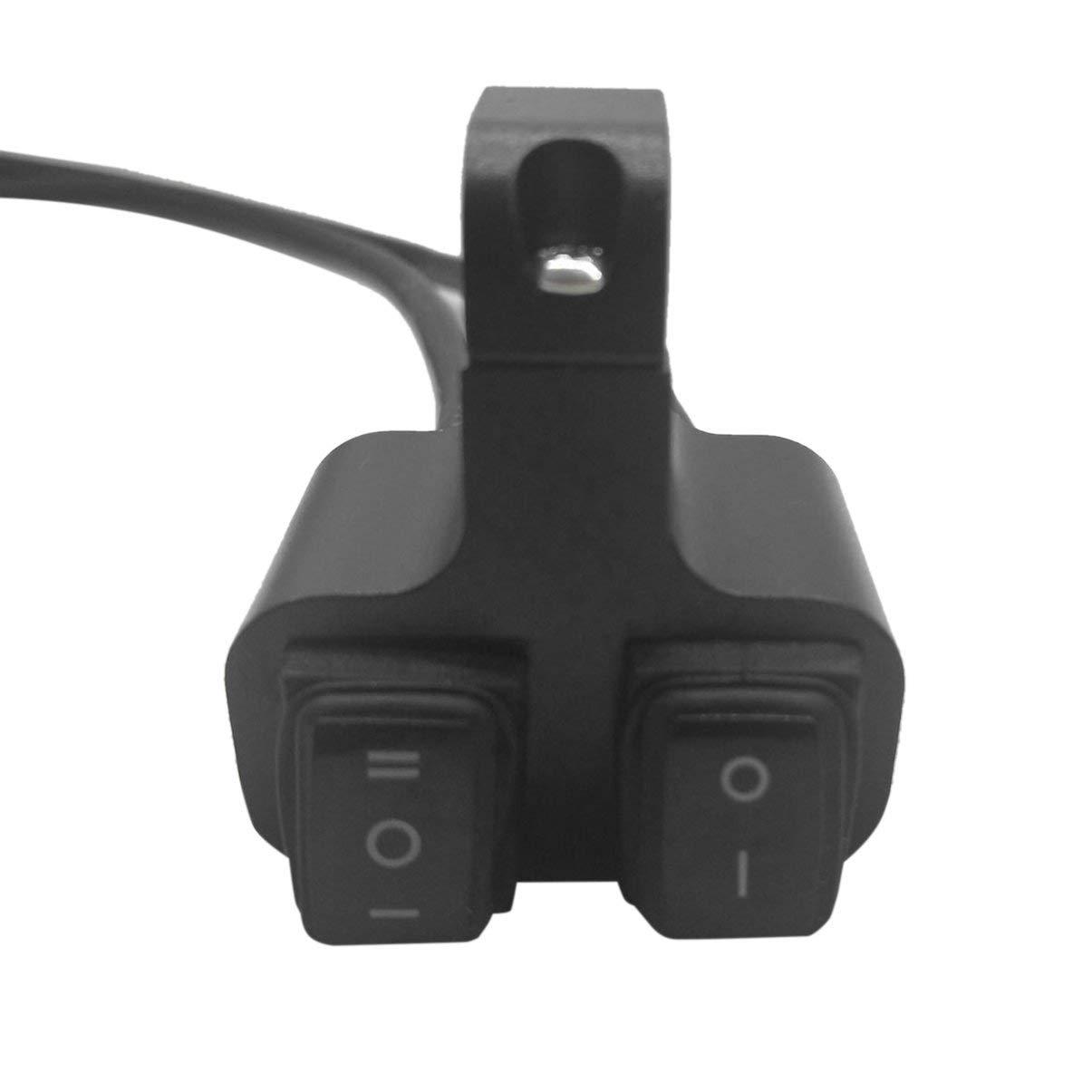 12V Moto Guidon Fixé Double Flash Switch 3 Engrenages Faisceau Haut Faisceau Faisceau Allumage LED Interrupteur De Phare JullyeFRgant