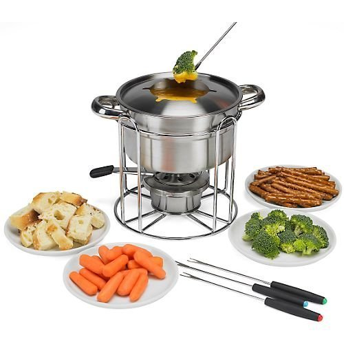 12-pc. Stainless Steel Fondue Set by Roshco