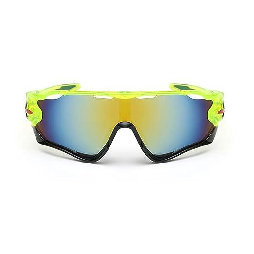 Kry UV400Sport Sonnenbrille für Herren Driver Golf Angeln unzerbrechlich Metall Rahmen schwarz Black & Green 145mm 50mm 122mm vbbPx