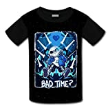 Unisex Kids Unis Ex Smiling Sans and Papyrus 3D Printed Round Collar Short Sleeve T- Shirt