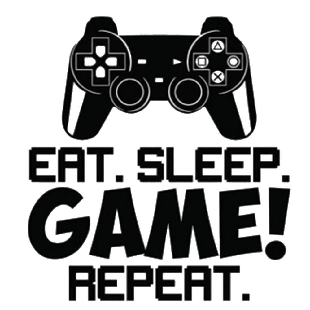 Deanyi Wand Aufkleber Eat Sleep Game Repeat Quote Aufkleber Aufkleber Wand Vinylkunst Design Gamer Cool Lustig Game Room Wall Art Murals Home dekor