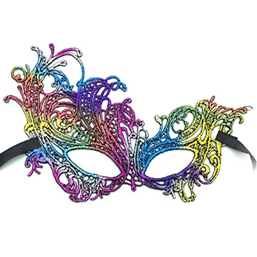 Bkpearl Lace Eye Mask Sexy Eyemask Women Make Up Mysterious Mask for Halloween Carnival Masquerade Party H13