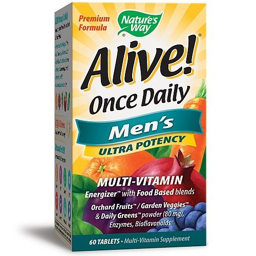 Nature's Way Alive Once Daily Men's Ultra Potency Tablets, 60 Count (pack of 2)