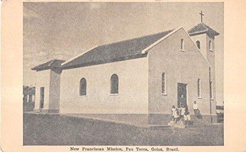 Goiaz Brazil New Franciscan Mission Antique Postcard V9604