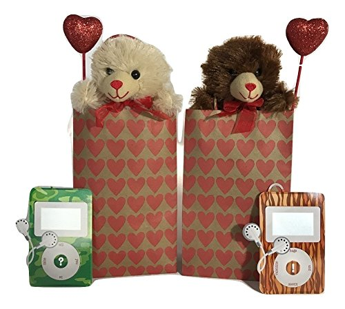 Mom Teddy Bear (Valentines Day Gift Bundle!! - Set of 2 Valentines Day Mix and Match Set - 8 Piece Plush Bundle - TWO Chocolate Scented 5' Teddy Bears!! Valentines Day Gift for Kids, Teens, Teachers)