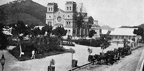 Puerto Rico Guayama 1898 Nthe Plaza And Cathedral At Guayama Puerto Rico Photograph 1898 Poster Print by (24 x 36)