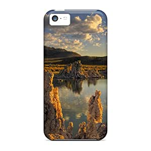 For Iphone Cases, High Quality Limestone Monuments In A Lake For Iphone 5c Covers Cases