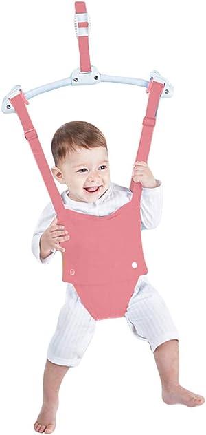Creative Baby Door Jumper Set - Adjustable Toddler Baby Bouncer Baby Toys Baby Walker Swing (Pink)