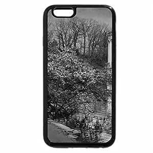 iPhone 6S Plus Case, iPhone 6 Plus Case (Black & White) - Mountain spring reflection