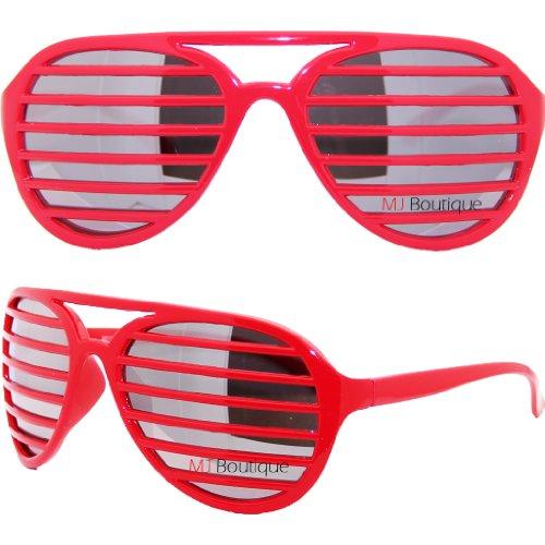 Full Shutter Sunglasses with Lenses - Red