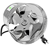VIVOSUN 8 inch Inline Duct Booster Fan 420 CFM, Extreme Low Noise & Extra Long 5.5' Grounded Power Cord