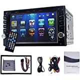 Yody Double Din Car DVD Player 6.2 Touch Screen Bluetooth GPS Navigation DVD/CD/MP3/USB/SD/AUX in AM/FM RDS Radio in Dash Car Stereo Backup Camera Remote Control