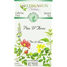 Celebration Herbals Pau D'Arco Inner Bark Tea WC 24 Tea Bag, 48Gm