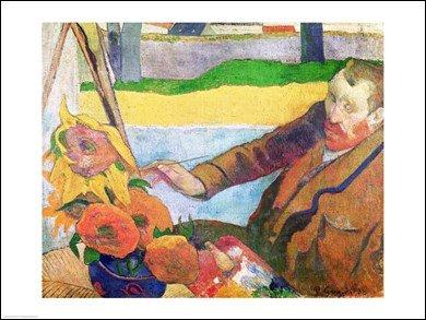 Van Gogh painting Sunflowers, 1888 HIGH QUALITY MUSEUM WRAP CANVAS Print Paul Gauguin 24x18