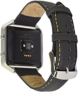 Deepra Black band - Compatible with Fitbit Blaze and other 22 mm watches