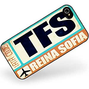 Rubber Case for iphone 4 4s Airportcode TFS Reina Sofia - Neonblond