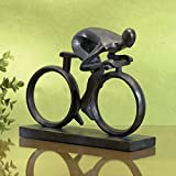 Bits and Pieces - Elegant 6-3/4' Bicycle Statue - Exceptionally Molded in Durable Polyresin - Impressive Home Décor Sculpture
