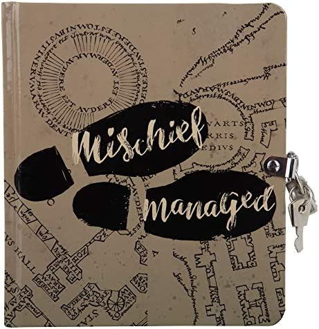 HARRY POTTER Mischief Managed Marauder's Map Lock & Key Diary for Kids - with 216 Lined Pages - Ages 6+